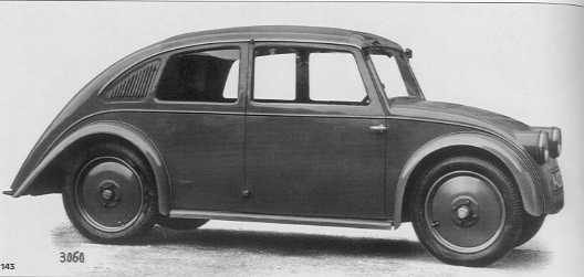 the road that led to the beetle the 150h had a 1500cc engine producing 55hp that was located in front of the rear axle ten thousand of these models were produced between 1933 and 1938